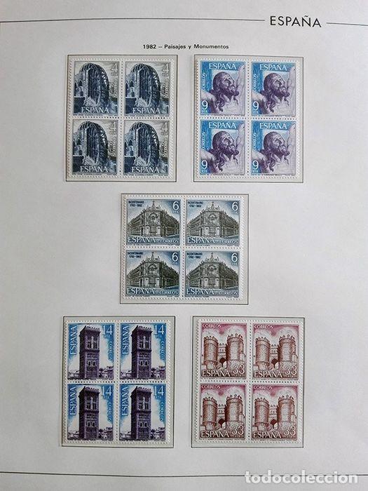 Sellos: España años 1979 1980 1981 1982 1983 en bloque de 4 con Album y Hojas Edifil HEBS70 HEBS80 EBY - Foto 11 - 217278347
