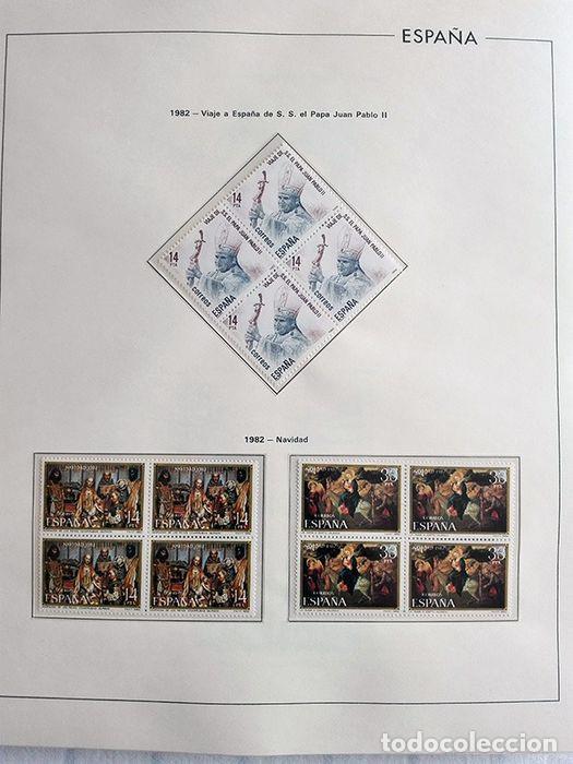 Sellos: España años 1979 1980 1981 1982 1983 en bloque de 4 con Album y Hojas Edifil HEBS70 HEBS80 EBY - Foto 13 - 217278347