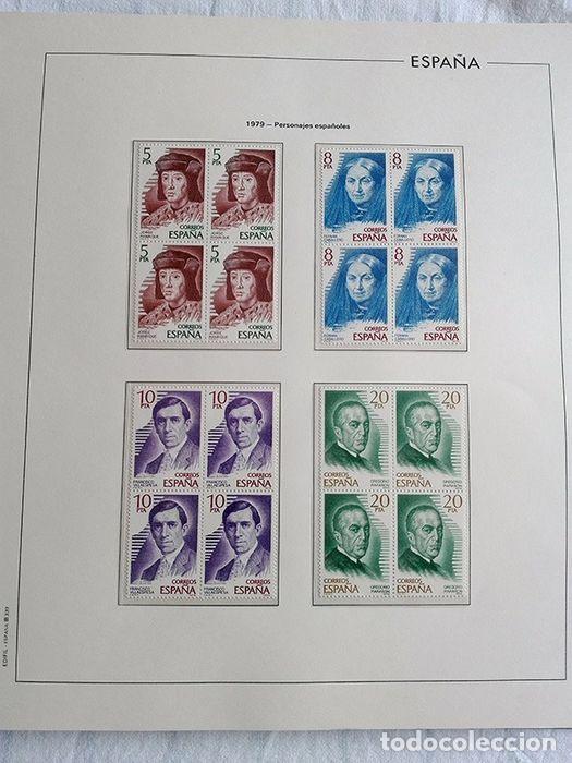 Sellos: España años 1979 1980 1981 1982 1983 en bloque de 4 con Album y Hojas Edifil HEBS70 HEBS80 EBY - Foto 14 - 217278347