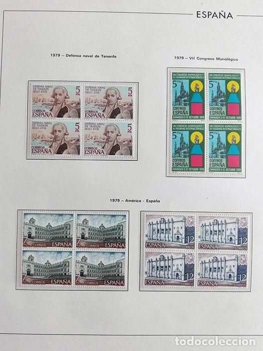 Sellos: España años 1979 1980 1981 1982 1983 en bloque de 4 con Album y Hojas Edifil HEBS70 HEBS80 EBY - Foto 15 - 217278347