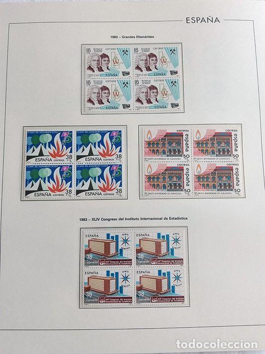 Sellos: España años 1979 1980 1981 1982 1983 en bloque de 4 con Album y Hojas Edifil HEBS70 HEBS80 EBY - Foto 16 - 217278347