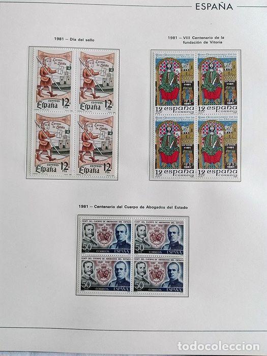 Sellos: España años 1979 1980 1981 1982 1983 en bloque de 4 con Album y Hojas Edifil HEBS70 HEBS80 EBY - Foto 21 - 217278347