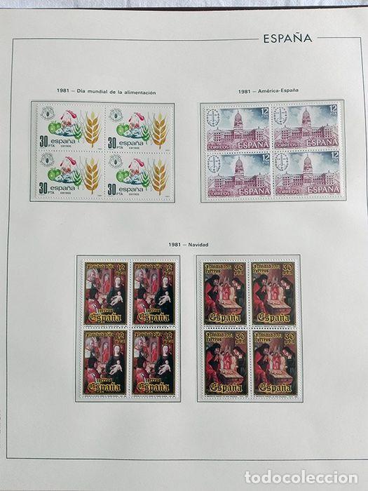 Sellos: España años 1979 1980 1981 1982 1983 en bloque de 4 con Album y Hojas Edifil HEBS70 HEBS80 EBY - Foto 22 - 217278347