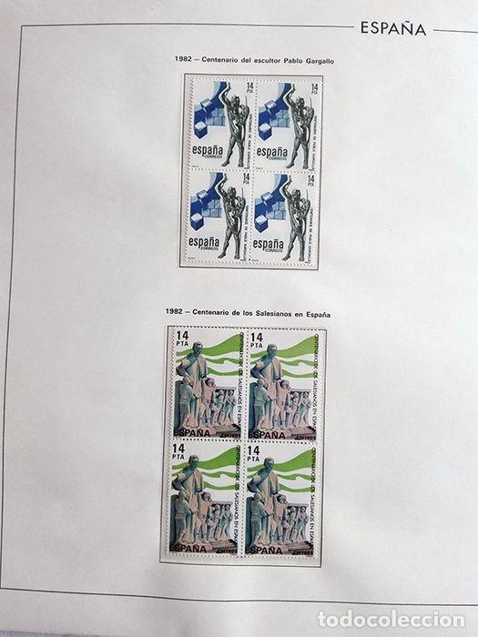 Sellos: España años 1979 1980 1981 1982 1983 en bloque de 4 con Album y Hojas Edifil HEBS70 HEBS80 EBY - Foto 25 - 217278347