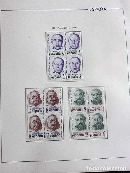 Sellos: España años 1979 1980 1981 1982 1983 en bloque de 4 con Album y Hojas Edifil HEBS70 HEBS80 EBY - Foto 30 - 217278347