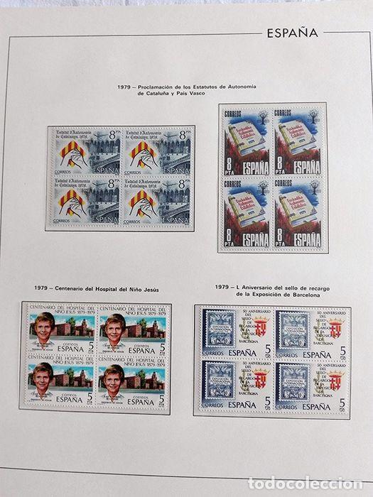 Sellos: España años 1979 1980 1981 1982 1983 en bloque de 4 con Album y Hojas Edifil HEBS70 HEBS80 EBY - Foto 35 - 217278347