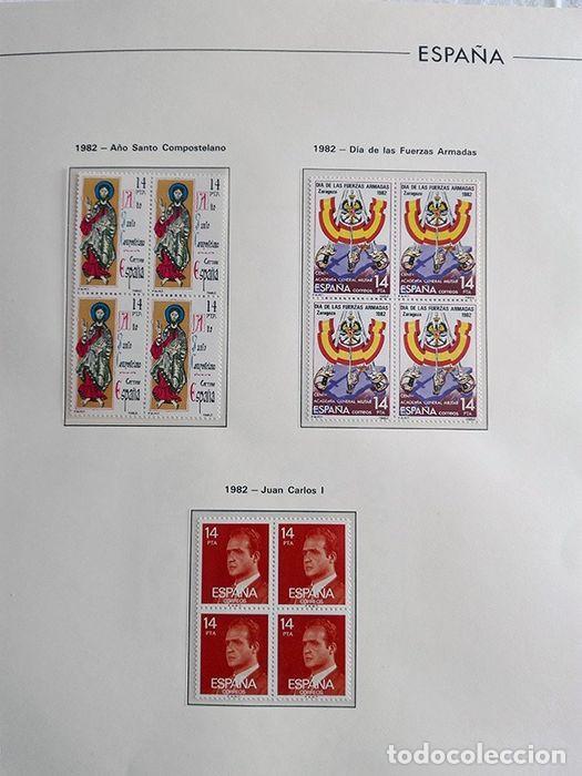 Sellos: España años 1979 1980 1981 1982 1983 en bloque de 4 con Album y Hojas Edifil HEBS70 HEBS80 EBY - Foto 36 - 217278347