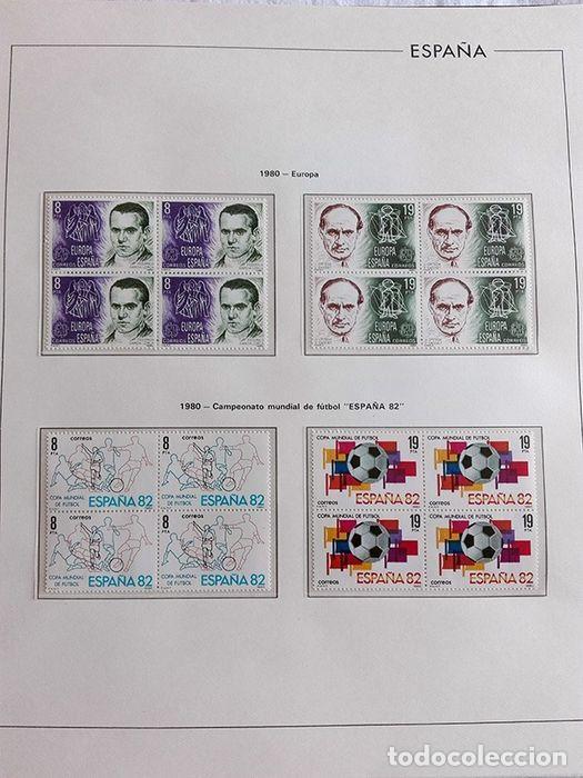 Sellos: España años 1979 1980 1981 1982 1983 en bloque de 4 con Album y Hojas Edifil HEBS70 HEBS80 EBY - Foto 39 - 217278347