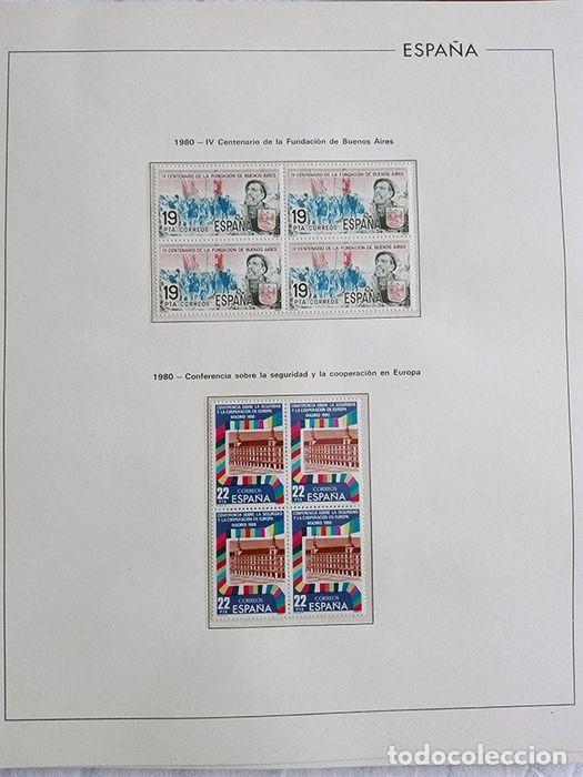 Sellos: España años 1979 1980 1981 1982 1983 en bloque de 4 con Album y Hojas Edifil HEBS70 HEBS80 EBY - Foto 41 - 217278347