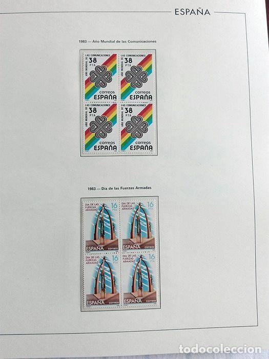 Sellos: España años 1979 1980 1981 1982 1983 en bloque de 4 con Album y Hojas Edifil HEBS70 HEBS80 EBY - Foto 49 - 217278347