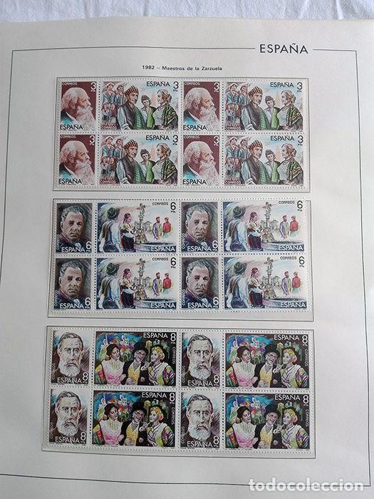 Sellos: España años 1979 1980 1981 1982 1983 en bloque de 4 con Album y Hojas Edifil HEBS70 HEBS80 EBY - Foto 53 - 217278347