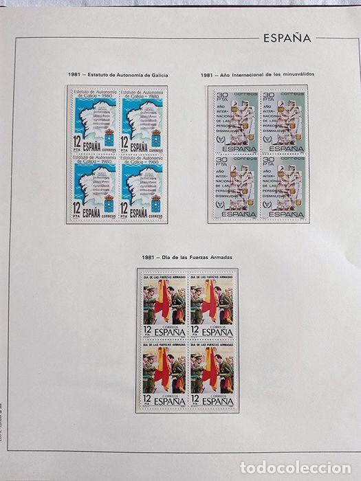 Sellos: España años 1979 1980 1981 1982 1983 en bloque de 4 con Album y Hojas Edifil HEBS70 HEBS80 EBY - Foto 54 - 217278347