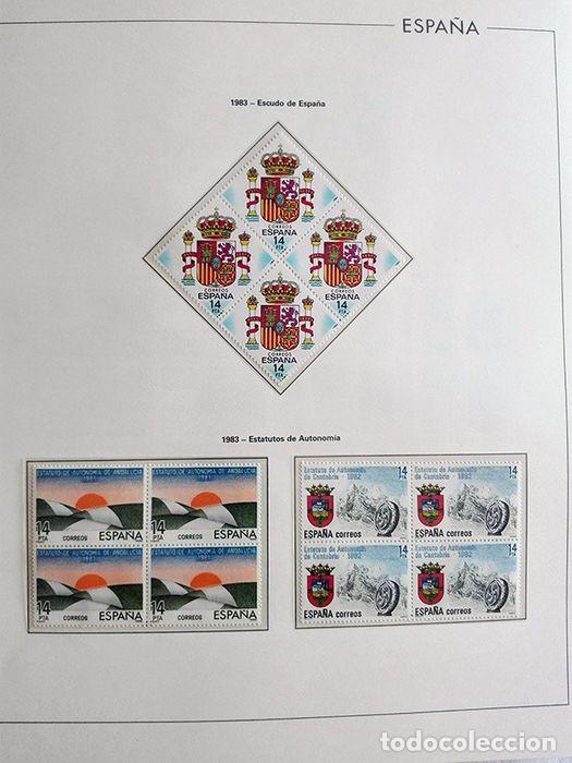 Sellos: España años 1979 1980 1981 1982 1983 en bloque de 4 con Album y Hojas Edifil HEBS70 HEBS80 EBY - Foto 58 - 217278347