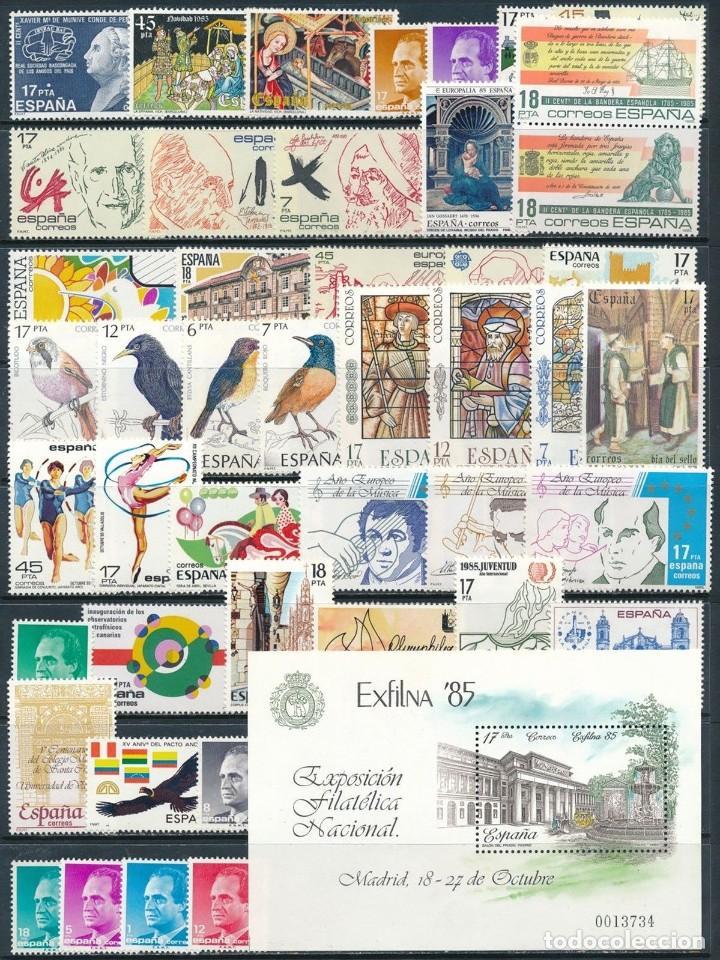 SELLOS ESPAÑA 1985** COMPLETO Y NUEVO MNH (Sellos - España - Juan Carlos I - Desde 1.975 a 1.985 - Nuevos)