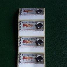 Sellos: 5 ATM EN BLANCO. EXPOSICION MUNDIAL DE FILATELIA ESPAÑA 2000. Lote 217379688