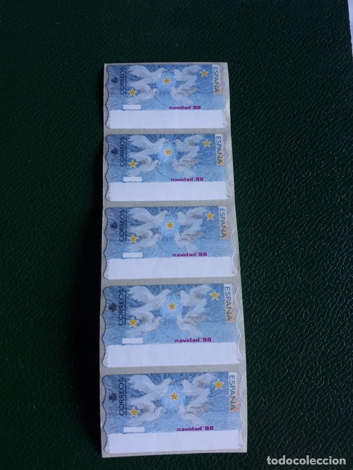 5 ATM EN BLANCO. NAVIDAD 1998 (Sellos - España - Juan Carlos I - Desde 1.986 a 1.999 - Nuevos)