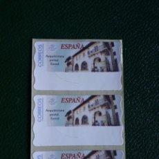 Sellos: 3 ATM EN BLANCO. ARQUITECTURA POSTAL . EL FERROL. Lote 217380535