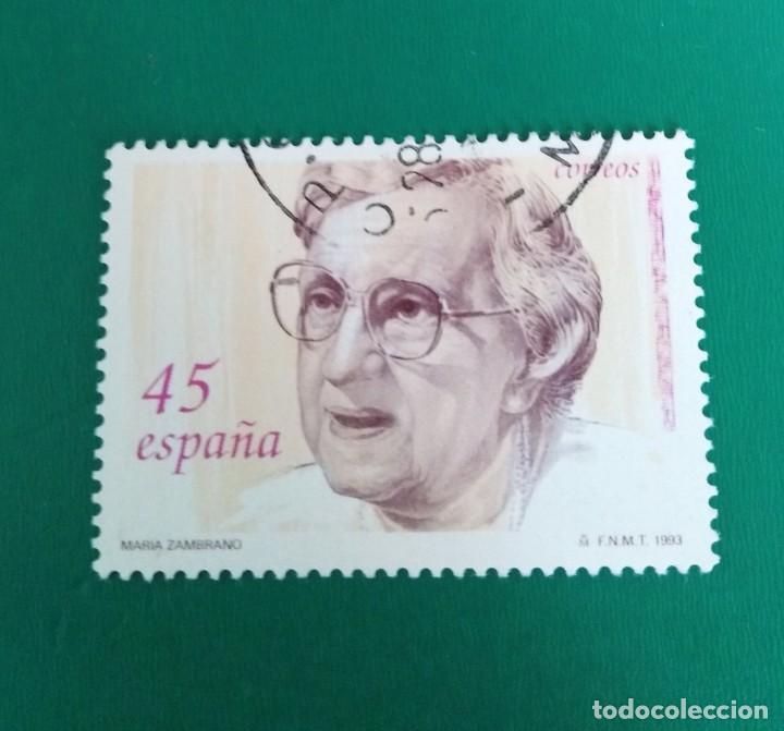 SELLO MARÍA ZAMBRANO ESPAÑA (Sellos - España - Juan Carlos I - Desde 1.986 a 1.999 - Usados)
