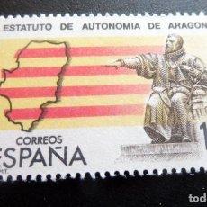 Francobolli: ESPAÑA 1984 - EDIFIL 2736**/ MNH - ESTATUTO AUTONOMÍA DE ARAGÓN. Lote 217547525