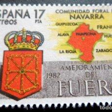 Francobolli: ESPAÑA 1984 - EDIFIL 2740/**/ MNH - ESTATUTO AUTONOMÍA DE NAVARRA. Lote 248739420
