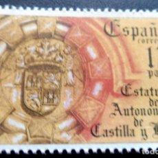 Francobolli: ESPAÑA 1984 - EDIFIL 2741/**/ MNH - ESTATUTO AUTONOMÍA DE CASTILLA LEON. Lote 217553990