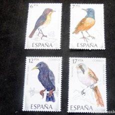 Francobolli: ESPAÑA 1985 - EDIFIL 2820/23 MNH - PÁJAROS +. Lote 217636478