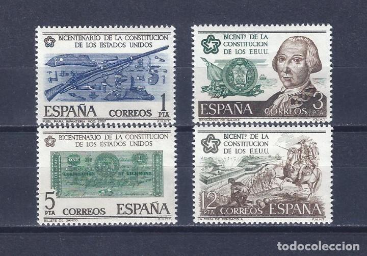 EDIFIL 2322-2325 BICENTENARIO DE LA INDEPENDENCIA DE LOS ESTADOS UNIDOS 1976 (SERIE COMPLETA).MNH ** (Sellos - España - Juan Carlos I - Desde 1.975 a 1.985 - Nuevos)