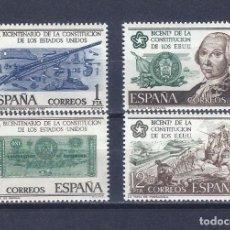 Sellos: EDIFIL 2322-2325 BICENTENARIO DE LA INDEPENDENCIA DE LOS ESTADOS UNIDOS 1976 (SERIE COMPLETA).MNH **. Lote 242305200