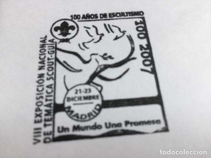 Sellos: Sobre pequeño, con matasello VIII Exposición nacional temática Scout Guía. - Foto 2 - 217844451