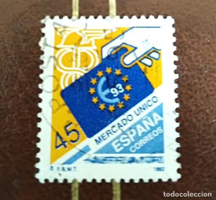 SELLO MERCADO ÚNICO EUROPEO ESPAÑA (Sellos - España - Juan Carlos I - Desde 1.986 a 1.999 - Usados)
