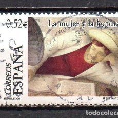 Sellos: SELLO USADO DE ESPAÑA -LA MUJER Y LA LECTURA-, AÑO 2004, EN BUEN ESTADO. Lote 218020252