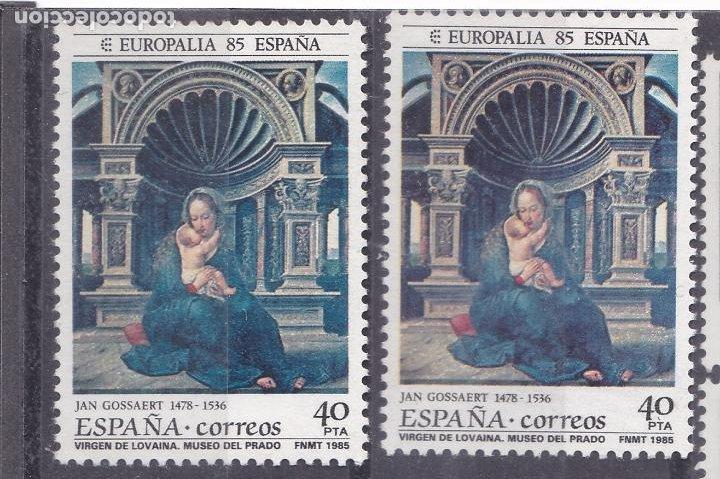 LL2-EUROPALIA 85 VARIEDAD ** SIN FIJASELLOS.. (Sellos - España - Juan Carlos I - Desde 1.986 a 1.999 - Nuevos)