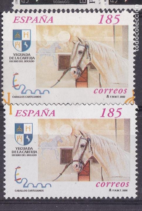 LL2-CABALLOS CARTUJANOS VARIEDAD ** SIN FIJASELLOS.. (Sellos - España - Juan Carlos I - Desde 1.986 a 1.999 - Nuevos)