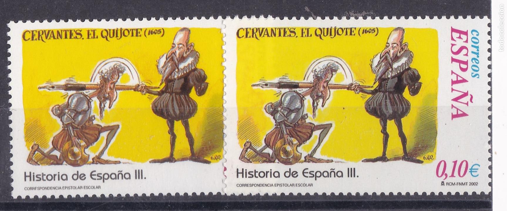 LL2- HISTORIA DE ESPAÑA CERVANTES EL QUIJOTE .VARIEDAD ** SIN FIJASELLOS (Sellos - España - Juan Carlos I - Desde 1.986 a 1.999 - Nuevos)
