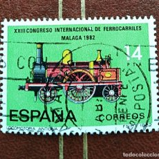 Sellos: SELLO XXIII CONGRESO INTERNACIONAL DE FERROCARRILES LOCOMOTORA ESPAÑA. Lote 218128217