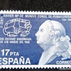 Sellos: ESPAÑA 1985 - EDIFIL 2824 MNH - EL CONDE DE PEÑAFLORIDA. Lote 218149607