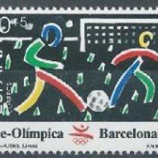 Selos: 1989. EDIFIL 3025/7**MNH. III SERIE PREÓLÍMPICA BARCELONA'92. ESGRIMA/FÚTBOL/GIMNASIA. DEPORTES.. Lote 241134520