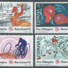 Selos: 1989. EDIFIL 2994/7**MNH. II SERIE PREÓLÍMPICA BARCELONA'92. BALONMANO/BOXEO/CICLISMO... DEPORTES.. Lote 241134615