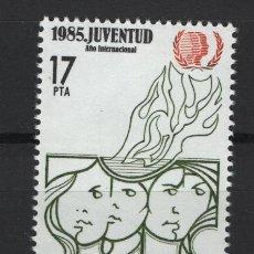 Sellos: TV_001/ ESPAÑA 1985, EDIFIL 2787 MNH**, AÑO INTERNACIONAL DE LA JUVENTUD. Lote 218172027