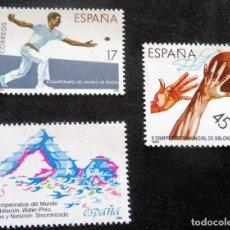 Sellos: ESPAÑA - 1986 - EDIFIL 2850/52 /**/ DEPORTES. Lote 218430623