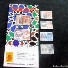 Timbres: ESPAÑA - 1986 - EDIFIL 2869/72/**/ PATRIMONIO CULTURAL HISPANO ISLAMICO + FO. INFORMACIÓN Nº 23/86. Lote 218435021