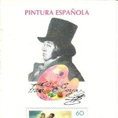 Sellos: ESPAÑA PRUEBA OFICIAL EDIFIL 60 PINTURA ESPAÑOLA FRANCISCO GOYA 1996 NL651. Lote 218491543