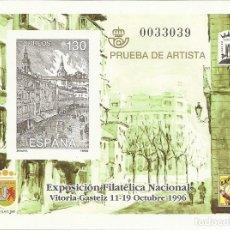 Sellos: ESPAÑA PRUEBA OFICIAL EDIFIL 61 EXFILNA'96 VITORIA 1996 NL775. Lote 218491847