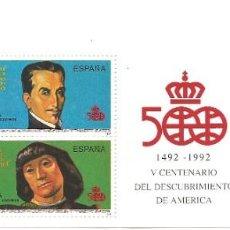 Sellos: SELLOS DE ESPAÑA AÑO 1991 V CENTENARIO AMERICA CARNET , SELLOS NUEVOS. Lote 218518686