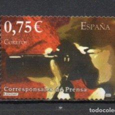 Sellos: SELLO USADO DE ESPAÑA -ESPAÑA 2002, CORRESPONSALES DE PRENSA-, SELLO AUTOADHESIVO, AÑO 2002. Lote 218609863