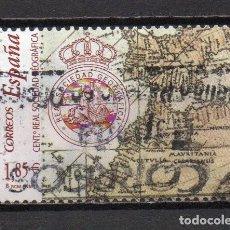 Sellos: SERIE USADA DE ESPAÑA -CENTENARIO DELA REAL SOCIEDAD GEOGRÁFICA-, AÑO 2003. Lote 218719808