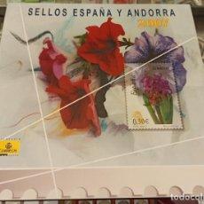 Sellos: LIBRO ÁLBUM CORREOS AÑO 2007 - EMISIONES DE SELLOS ESPAÑA Y ANDORRA NUEVO. Lote 218810202