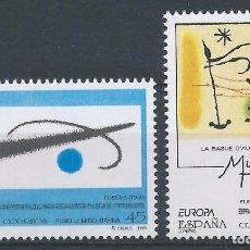 Sellos: 1993. ESPAÑA. EDIFIL 3250/1**MNH. EUROPA. JOAN MIRÓ. PINTURA. BELLAS ARTES.. Lote 218848075