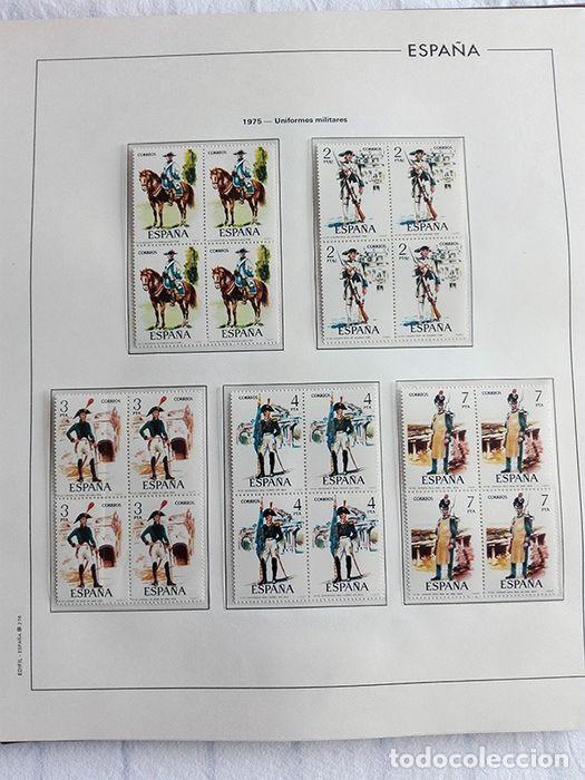 Sellos: España sellos en bloque de 4 de los años 1975 1976 1977 1978 con Hojas Edifil en negro HEBS70 - Foto 3 - 205826555