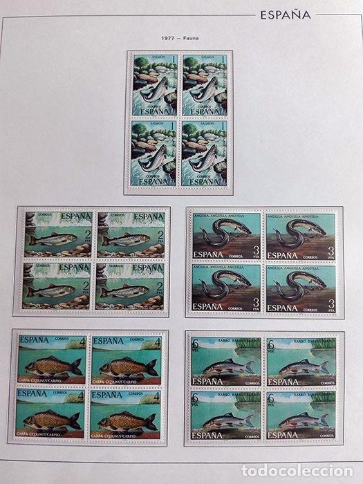 Sellos: España sellos en bloque de 4 de los años 1975 1976 1977 1978 con Hojas Edifil en negro HEBS70 - Foto 4 - 205826555